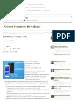 Method Statement for Coring & Cutting