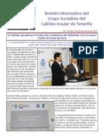 Boletín del Grupo Socialista del Cabildo de Tenerife 110. 19 - 25 de enero 2015