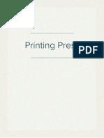 History of Printing Press