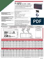 Battery CSB GP 1272 12v 7,2Ah