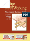 Minimalist Router Table Free Plan