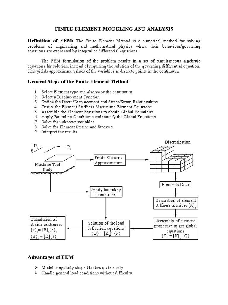 FEM Notes | Finite Element Method | Analysis