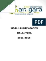 2011-2015 Legegintzaldi Balantzea