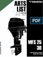 Parts tohatsu  MFS25B-30B (2005) - (00221050-2)