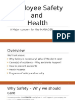 Employee Safety and Health - A Major Concern