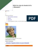 Cómo Beneficia La Crisis de Deuda de La Zona Euro a Alemania