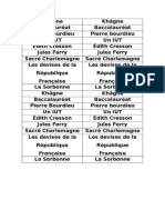 Vocabulaire Devoirs