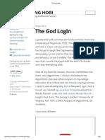 The God Login