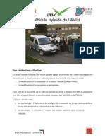 Le Vehicule Hybride Du LAMIH3