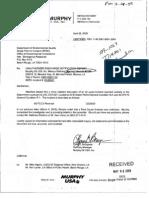 Murphy Oil EDMS 41161349 dated 4_28_2009 T114001  #2 FCCU reversal on Feb 25 2009  41161349