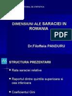 Dimensiuni Ale Saraciei in Romania