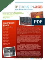 Adventure Camp Brochure