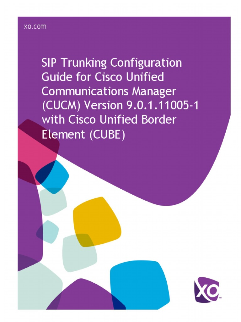 Cisco CUCM With Cube 9 0 Configuration Guide | Session Initiation