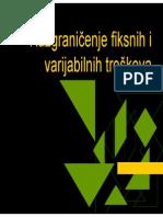 Mat1050- Razgranicenje Fiksnih i Varijabilnih Troskova