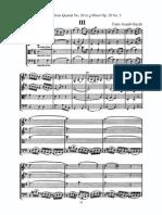 Haydn Adagio in g Quartet 26 Op. 20 #3 Score, Parts