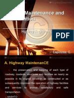 Highway Maintenance and Rehabilitation