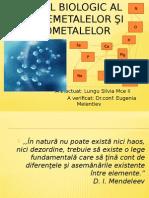 Rolul Biologic Al Bionemetalelor Şi Biometalelor