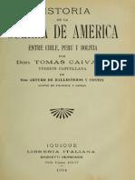 Historia de La Guerra Entre Peru - Chile - y - Bolivia - Tomo II - Tomas Caivano