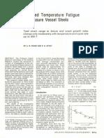 Elevated Temperature Fatigue of Pressure Vessel Steels
