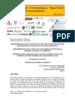 Implementación de un protocolo de actuación para toma de muestras biológicas en juicios de paternidad