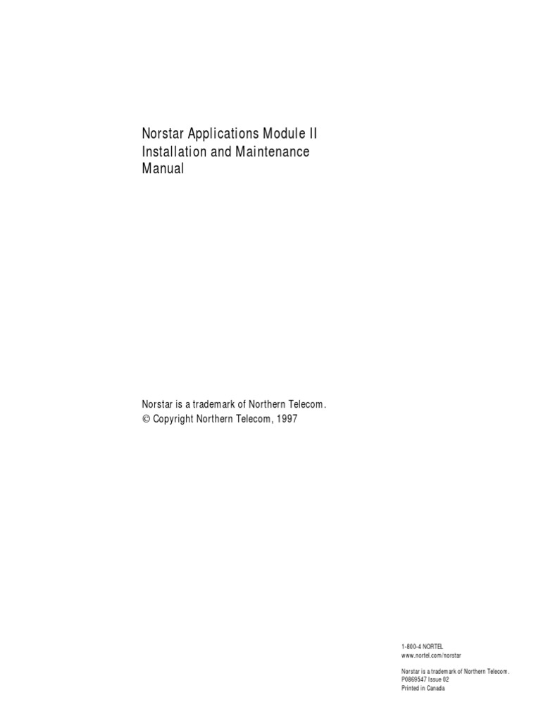 Nortel Norstar Nam Admin Manual Computer Data Storage Ac Motor Control Circuits Plcdoc Online Shop Engineering