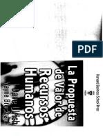 La Propuesta de Valor de Recursos Humanos Caps. 1 y 2