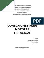 Conexion de Motores Trifasicos