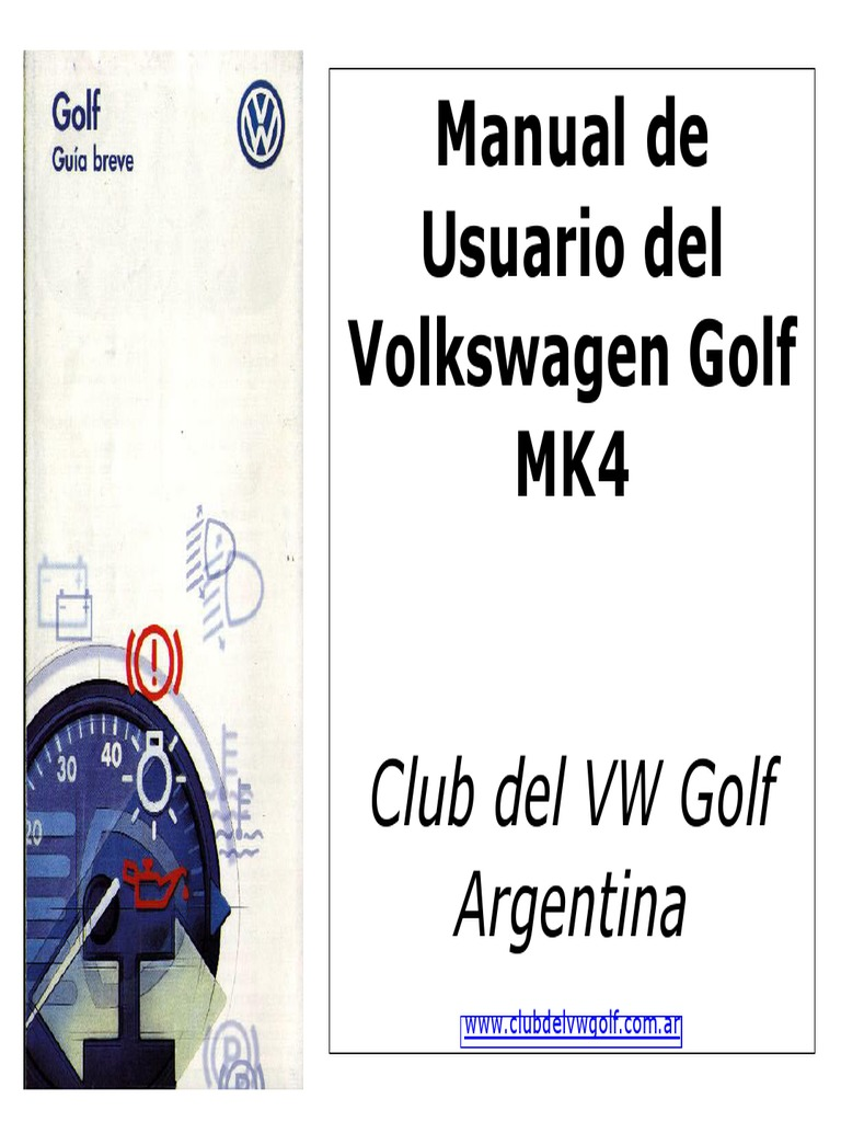 vw golf iv manual usuario rh scribd com manual de servicio jetta a4 2003 manual de taller jetta a4 pdf