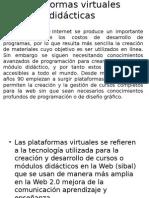 Plataformas virtuales didácticas