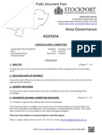 Cheadle Area Committee 3rd February 2015