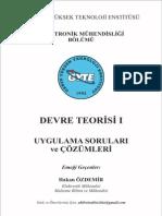 Elektrik Devreleri 1 - Gebze Teknik Üniversitesi Çözümlü Örnek Sorular