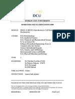 Cell Biology & Biochemistry - 2009 Exam