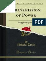 Transmission of Power - Nikola Tesla