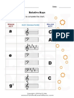 Music Worksheets Key Signatures Relative Keys Sharps 002