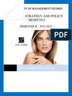 BusinessStrategyPolicy - Estee Lauder Inc Case Study (Draft 1)