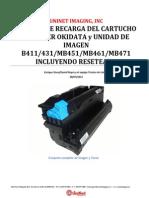 Instructivo recargar Toner Unidad OPC Okidata B431