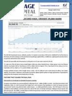Sensex Hits Record High, Crosses 29,000-Mark