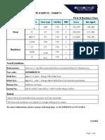 New Fare Sheet El Al Eff.apr01,2010-Mar31,2011