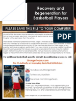 Recovery and Regeneration for Basketball Players