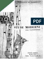 Di Domenico Studi Moderni per Saxofono