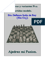 Ajedrez Chess 21-E60 - Defensa India de Rey (Sin Cc3)