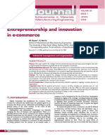 Entrepreneurship and Innovation in E-commerce