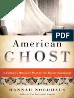 """""""American Ghost"""" by Hannah Nordhaus"""