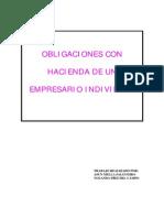 Obligaciones Con Hacienda de Un Empresario Individual