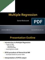 Multiple Regression - D. Boduszek