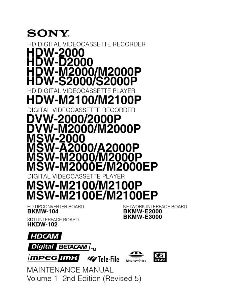 Msw-2000 Maintenance Manual