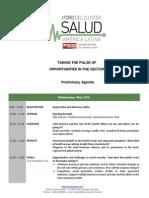 2015 Salud Agenda Preliminar ENGLISH