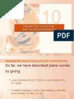 PARAMETRIC EQUATIONS & POLAR COORDINATES