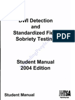 NHTSA DWI/DUI Field Sobriety Test Student Manual 2004 OCR