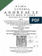 Alchemia 1597